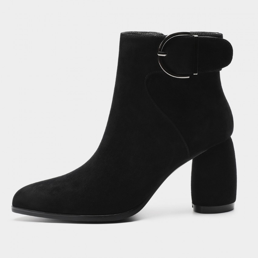 Buy Masoomake Buckle Black Boots online, shop Masoomake with free shipping