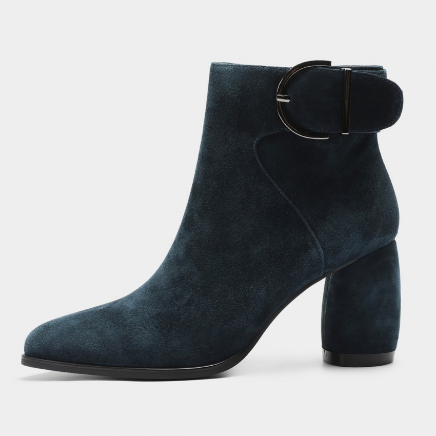 Buy Masoomake Buckle Navy Boots online, shop Masoomake with free shipping