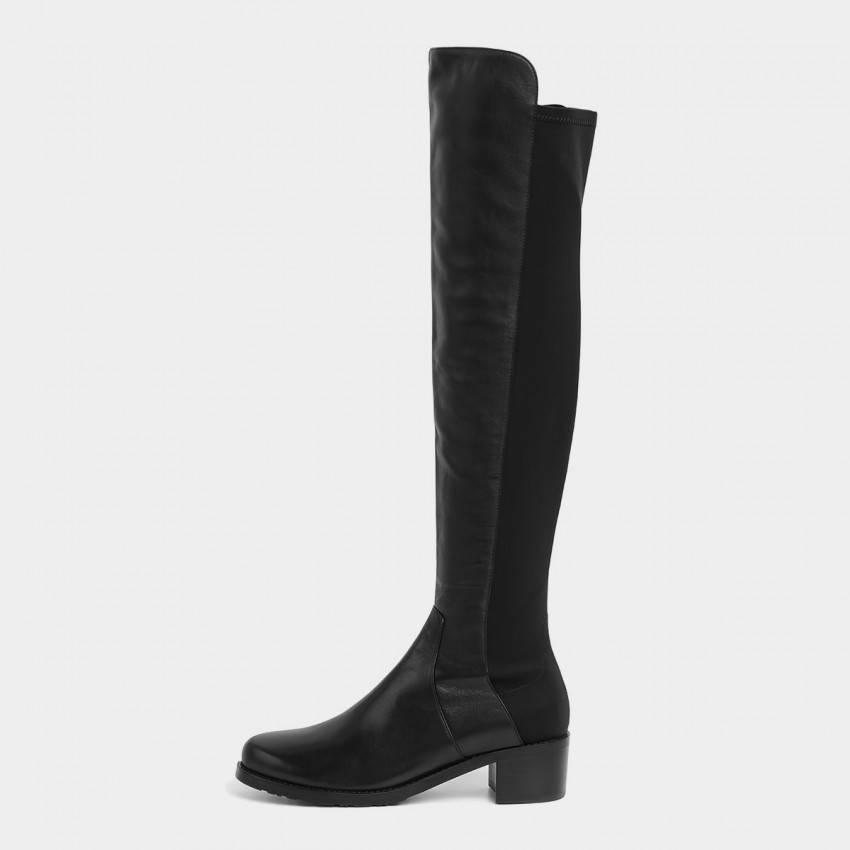 Buy Masoomake Thigh High Black Boots online, shop Masoomake with free shipping