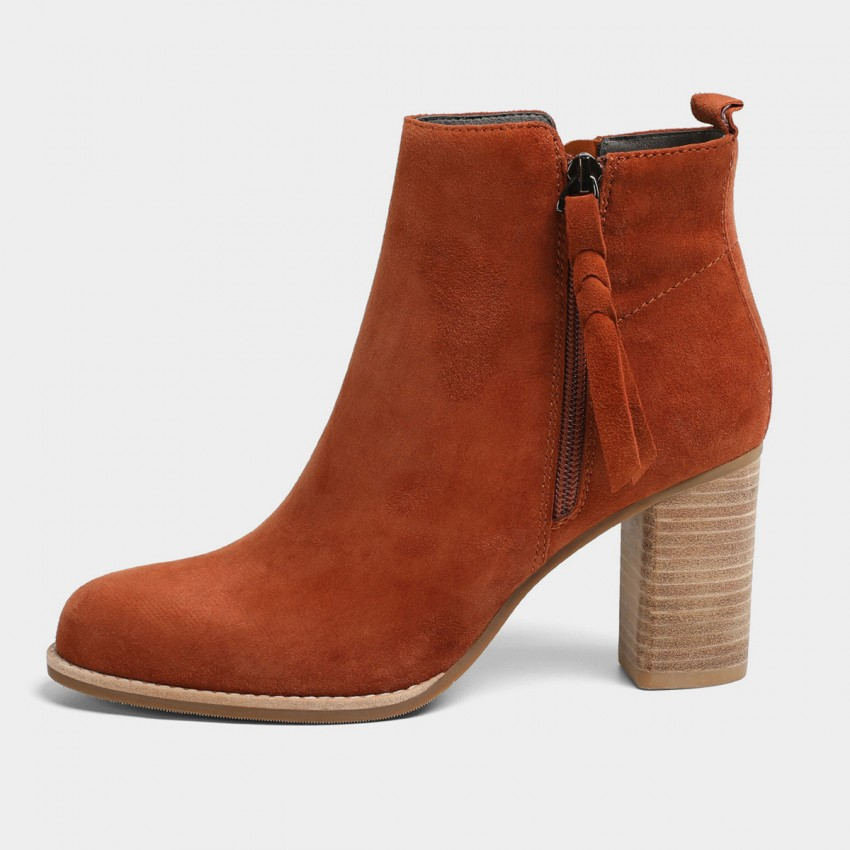 Buy Masoomake Asymmetrical Suede Brown Boots online, shop Masoomake with free shipping