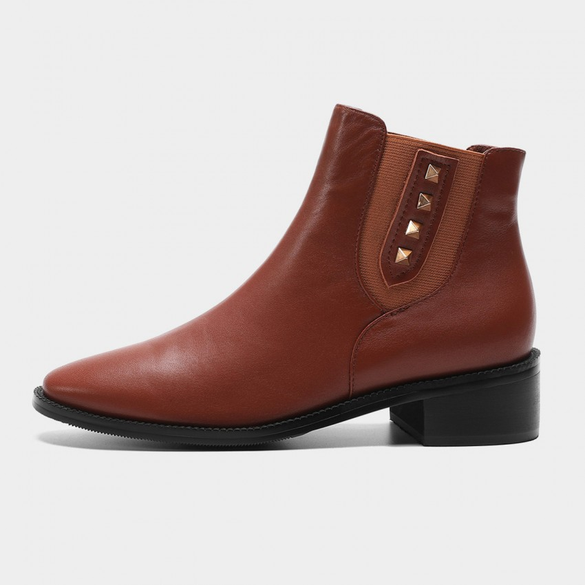 Buy Masoomake Studded Brown Boots online, shop Masoomake with free shipping