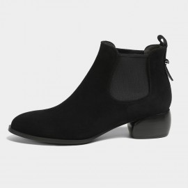 Masoomake Classic Ankle Black Boots (FSX8MS25)
