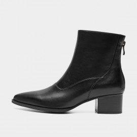 Masoomake Pointed Black Boots (FSX8MS29)