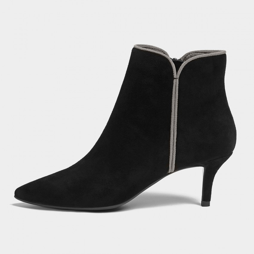 Buy Masoomake Constrast Suede Black Boots online, shop Masoomake with free shipping