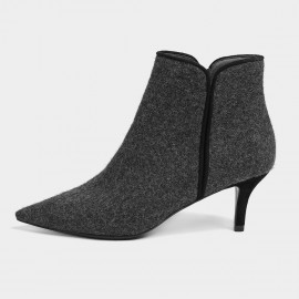 Masoomake Constrast Suede Charcoal Boots (FSX8MS30)