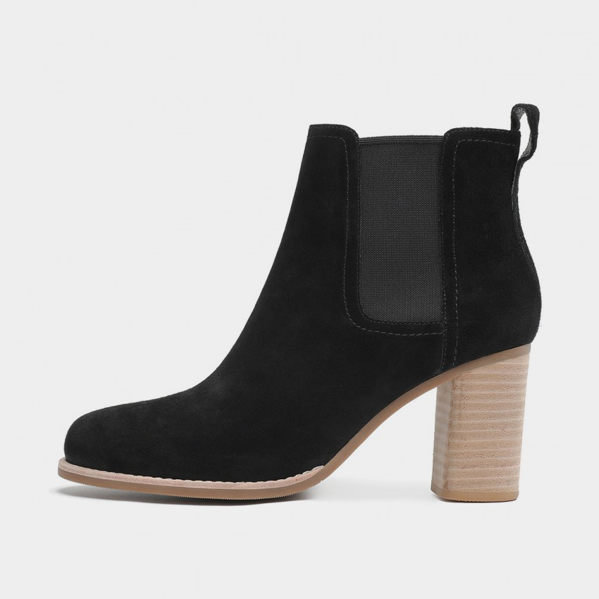 Buy Masoomake Heeled Ankle Black Boots online, shop Masoomake with free shipping