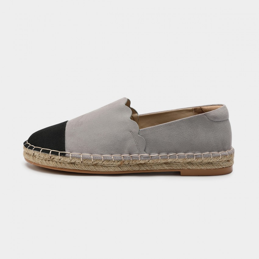 Buy Masoomake Dual-Coloured Suede Grey Loafer online, shop Masoomake with free shipping