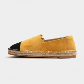Masoomake Dual-Coloured Suede Yellow Loafer (FSD71865)