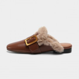 Masoomake Fury Leather Brown Flat (FSD78106)
