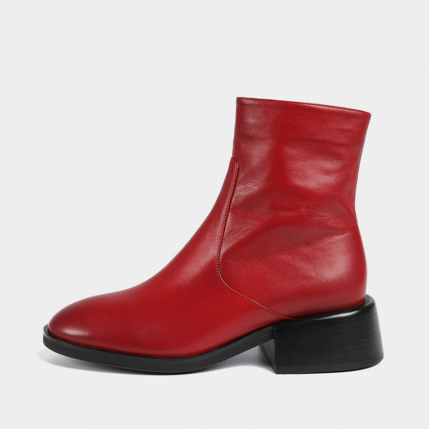 Buy Masoomake Glossy Metallic Leather Red Boot online, shop Masoomake with free shipping