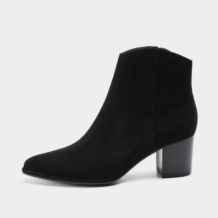 Buy Masoomake Zipped Suede Black Boot online, shop Masoomake with free shipping