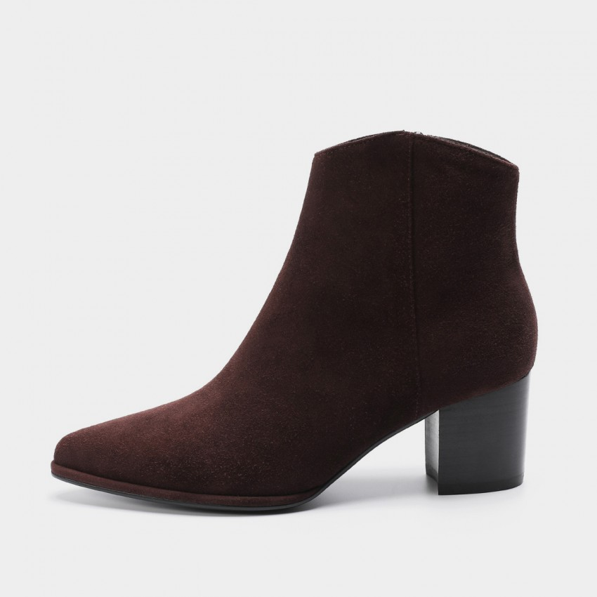Buy Masoomake Zipped Suede Coffee Boot online, shop Masoomake with free shipping