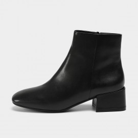 Masoomake Smooth Leather Black Boots (FSX81866)