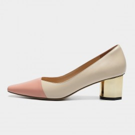Masoomake Two-Toned Leather Pink Pumps (FSD7869)