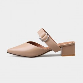 Jady Rose Ring Straps Pointed Toe Mule Nude Sandal (17DR10255)