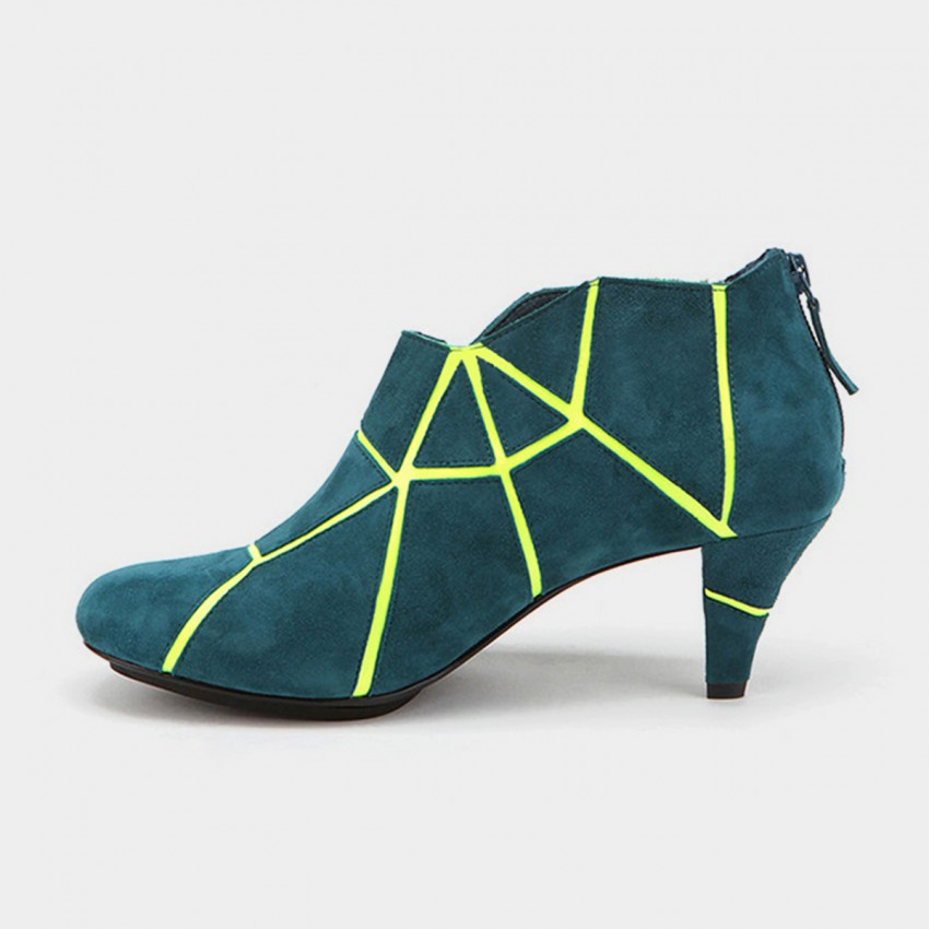 Buy Jady Rose Marble Vein Oxford Blue Boots online, shop Jady Rose with free shipping