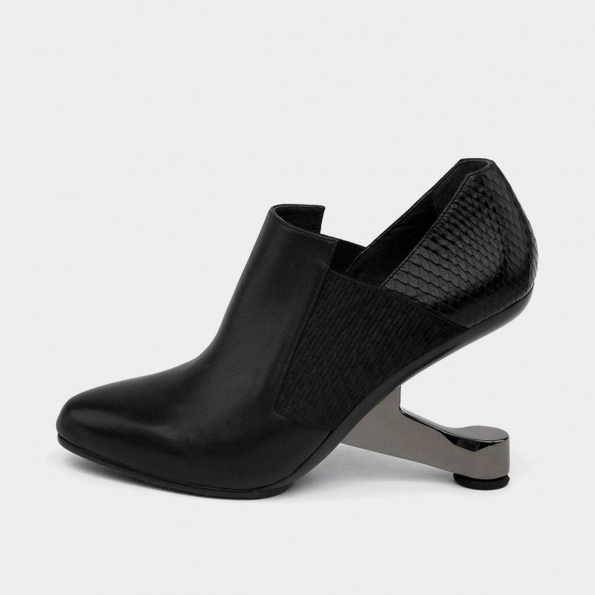 Buy Jady Rose Ankle High Medium Creative Heel Square Ankle Line Black Boots online, shop Jady Rose with free shipping