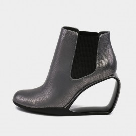Jady Rose Low Ankle High Empty Wedge Gun Boots (17DR10288)