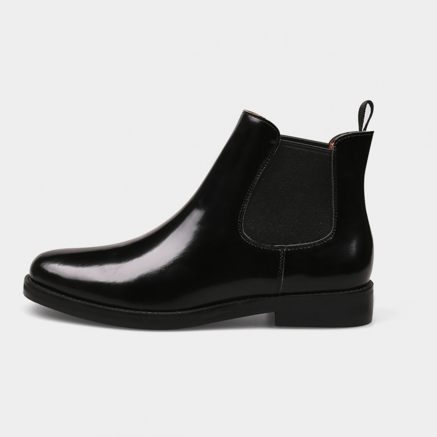 Buy Jady Rose Genuine Glamour Enamel Leather Black Boots online, shop Jady Rose with free shipping