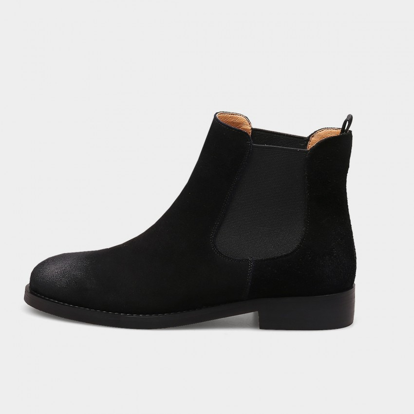 Buy Jady Rose Gradient Glamour Suede Leather Black Boots online, shop Jady Rose with free shipping
