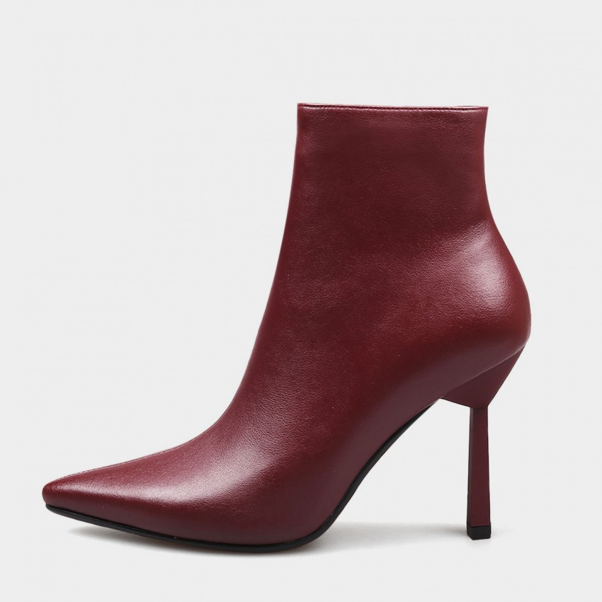 Buy Jady Rose Genuine Delicacy Stiletto High Heeled Wine Boots online, shop Jady Rose with free shipping