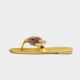 Jady Rose Flame N Fame Flip-Flop Gold Sandals (18DR10540)