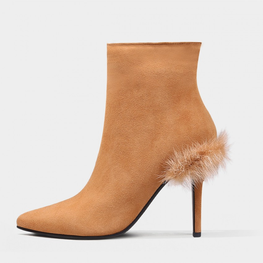 Buy Jady Rose Stiletto Ankle Brown Boots online, shop Jady Rose with free shipping