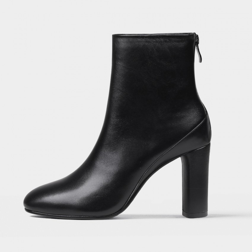 Buy Jady Rose Classic Sleek Heel Black Boots online, shop Jady Rose with free shipping