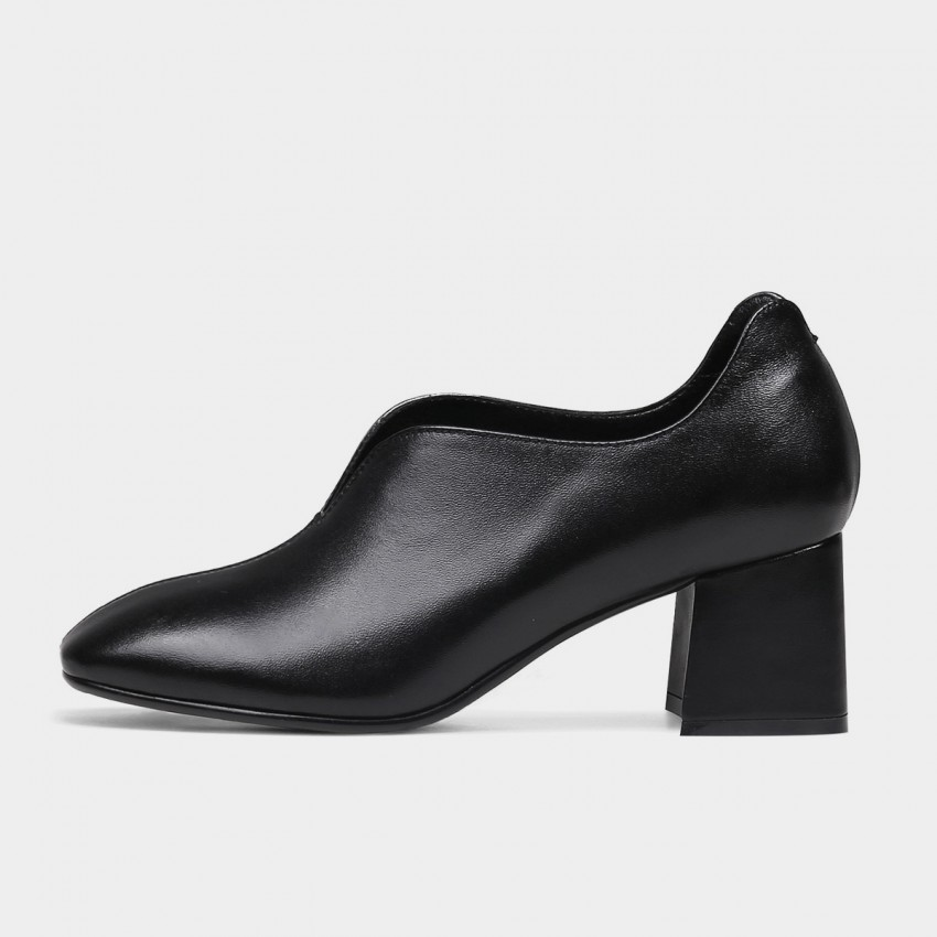 Buy Jady Rose Chunky Heel Black Pumps online, shop Jady Rose with free shipping