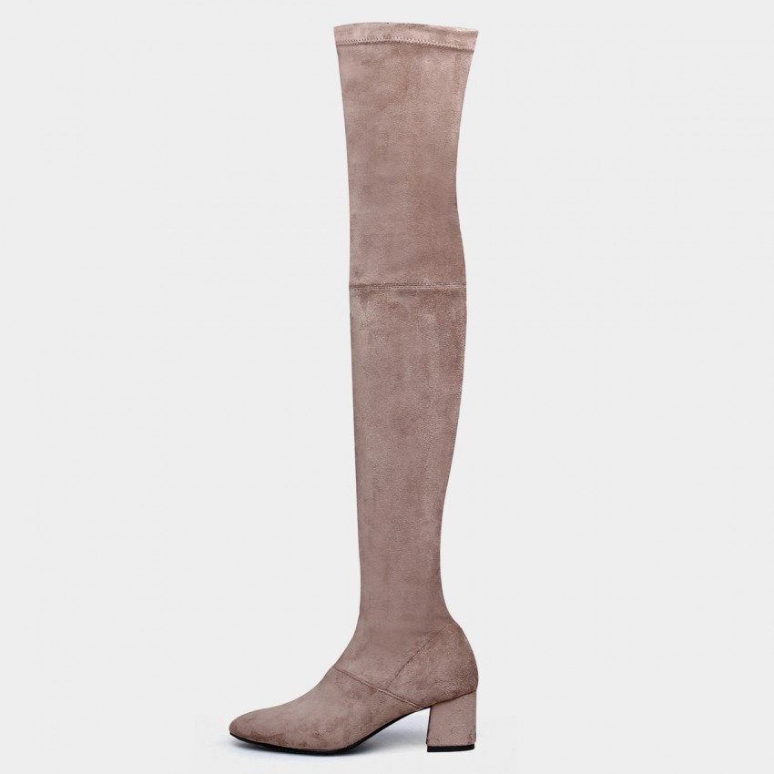 Buy Jady Rose Knee High Apricot Boots online, shop Jady Rose with free shipping
