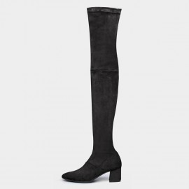 Jady Rose Knee High Black Boots (18DR10565)