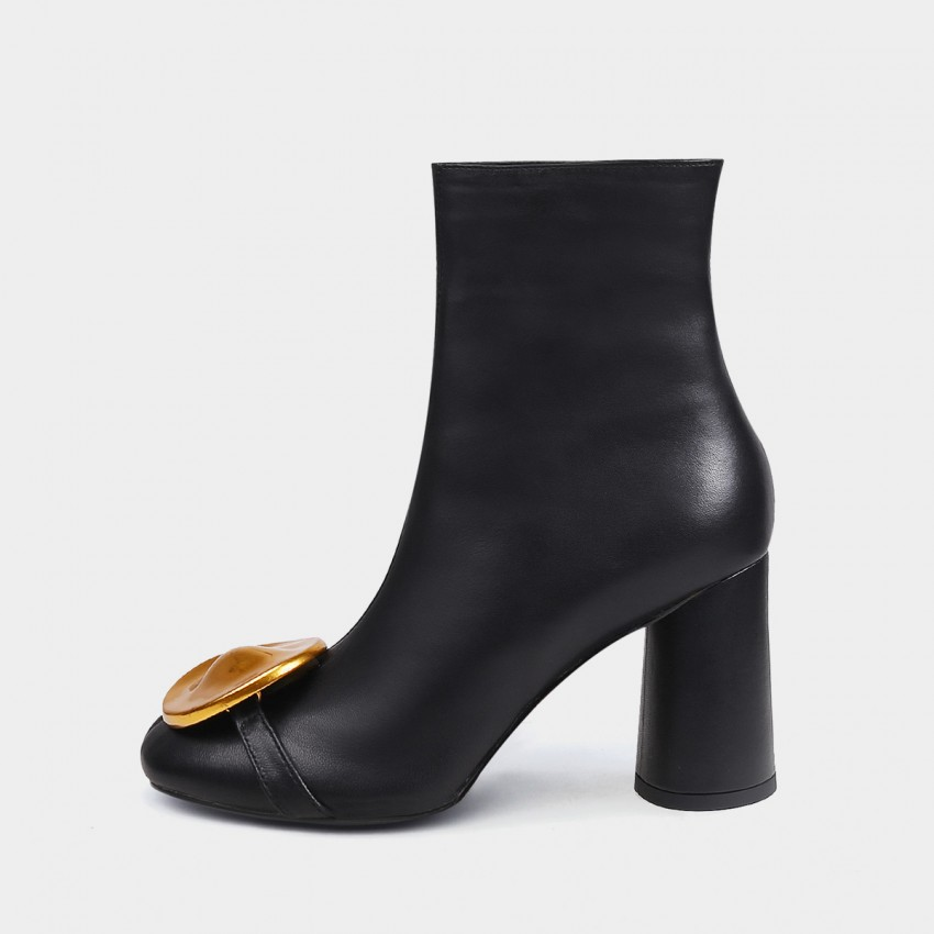 Buy Jady Rose Dazzling Ankle Black Boots online, shop Jady Rose with free shipping
