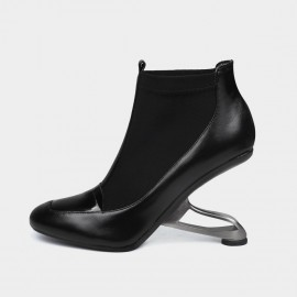 Jady Rose Edgy Black Boots (18DR10568)