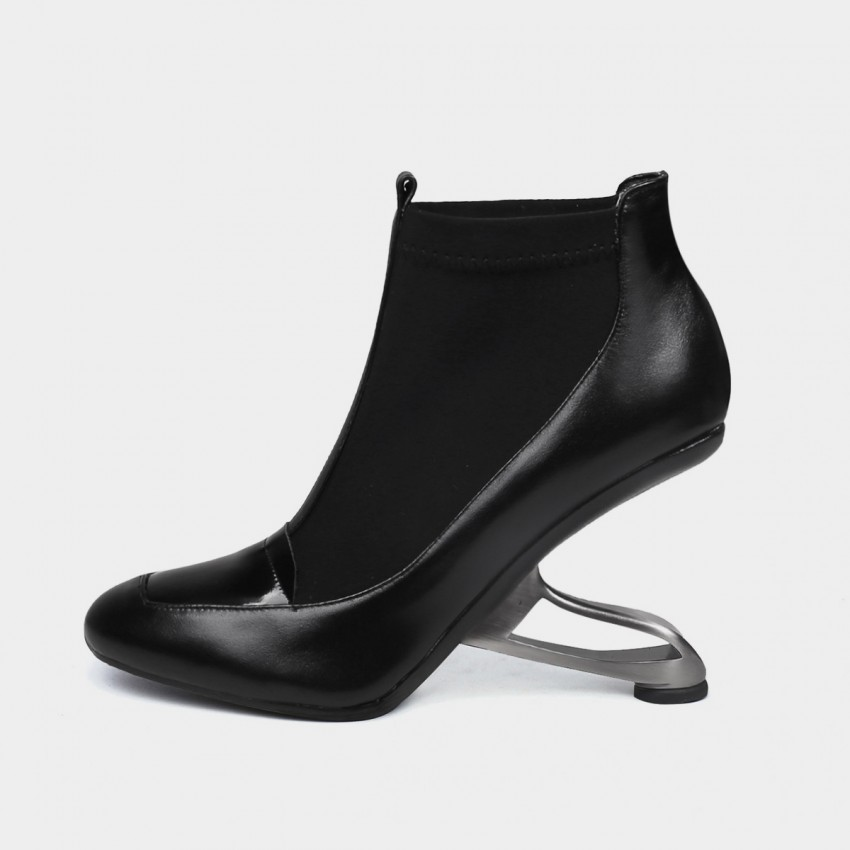 Buy Jady Rose Edgy Black Boots online, shop Jady Rose with free shipping