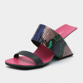Jady Rose Open Toe Faux Snake Leather Sandals (19DR10612)