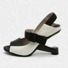 Jady Rose Open Toe Faux Leather Strip Accent White Sandals (19DR10613)