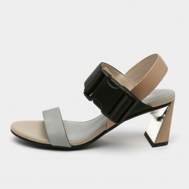 Jady Rose Open Toe Faux Suede Strip Accent Apricot Sandals (19DR10620)