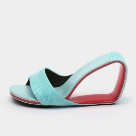 Jady Rose Baby Blue Open Wedges (19DR10628)
