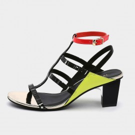 Jady Rose Zesty Lemon Multi Strap Heeled Sandals (19DR10633)