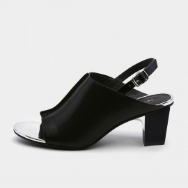 Jady Rose Jet Black Slingback Sandals (19DR10634)