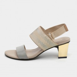 Jady Rose Irresistible Apricot Silver Mid Heel Sandals (19DR10635)
