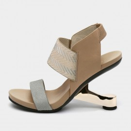 Jady Rose Statement Heel Apricot Sandals (19DR10638)