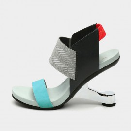 Jady Rose Colour Block Open-toe Blue Sandals (19DR10638)