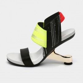 Jady Rose Ecentric Lemon Statement Heel Sandals (19DR10638)