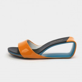 Jady Rose Sunrise Orange Wedge Slippers (19DR10640)