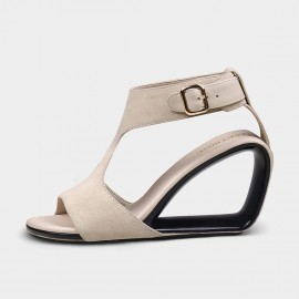 Jady Rose All About Apricot Suede Wedge Sandals (19DR10643)