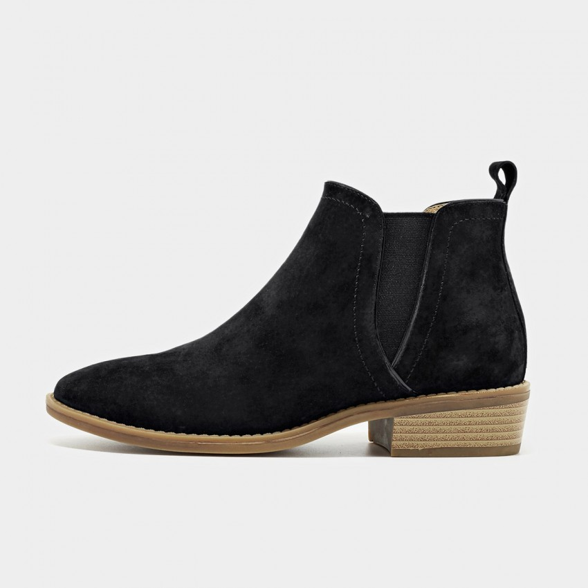 Buy Beau Suede Contrasting Sole Black Boots online, shop Beau with free shipping