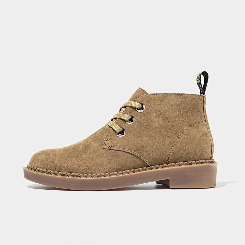 Buy Beau Suede Lace Rubber Sole Camel Boots online, shop Beau with free shipping