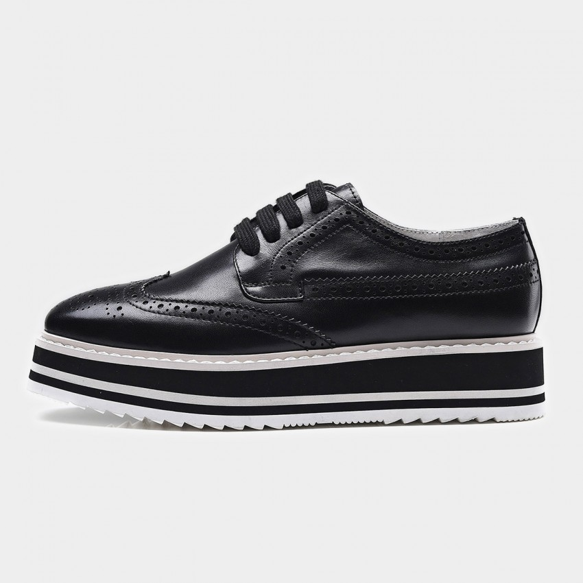 Buy Beau Modern Platform Oxford Black Lace Ups online, shop Beau with free shipping