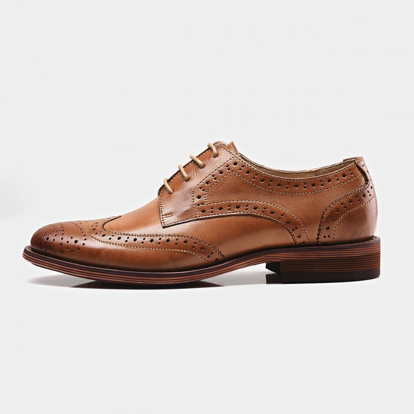 Buy Beau Classic Leather Oxford Gradient Sole Brown Lace Ups online, shop Beau with free shipping